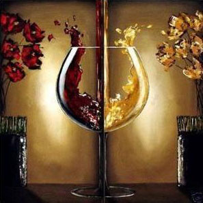 Abstract art wine