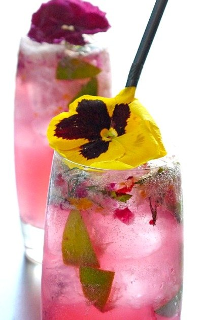 Pansy Flower Drink