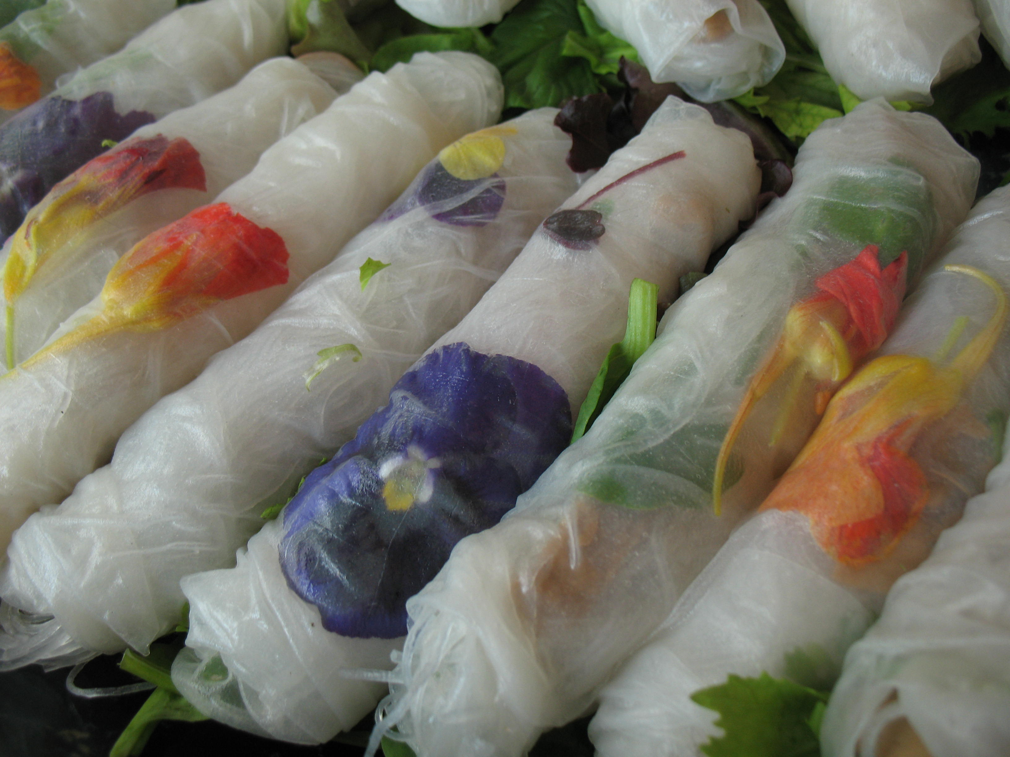 floral spring roll