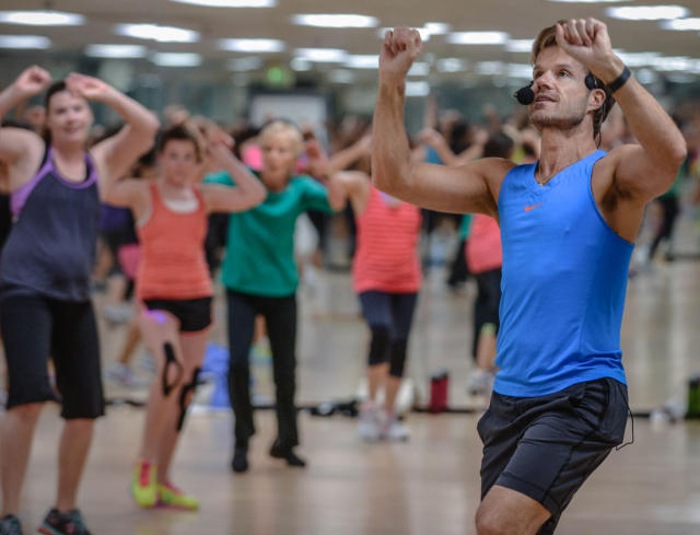 Louis Van Amstel(cq) leads a dance class at the Riverpoint Sports and Wellness