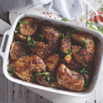 Roast Chicken Thighs With Garlic, Lemon and Herbs