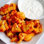 Crispy Gluten Free Cauliflower Buffalo Wings