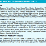 McDonald's Breakfast Burrito Has More Than 100 Ingredients