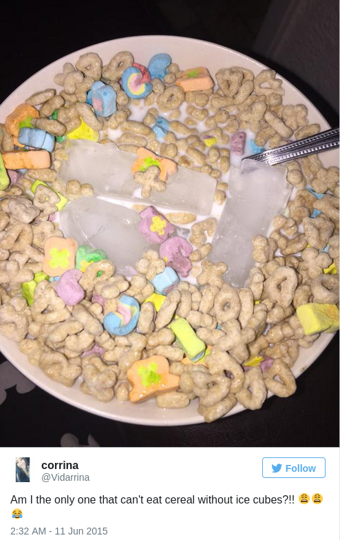 People Are Putting Ice in Their Cereal and It s MIND BOGGLING