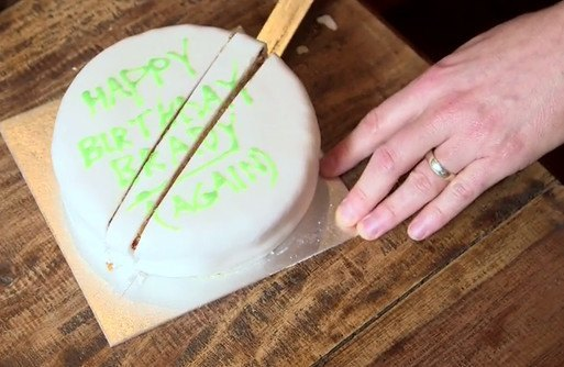 You've been cutting cake wrong your whole life