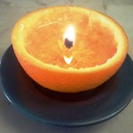 How To Make A Candle With Just An Orange And Cooking Oil