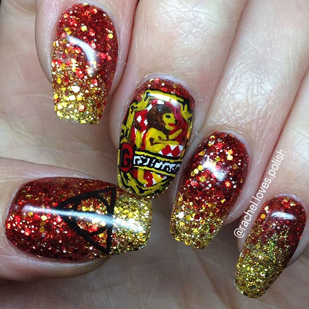 Harry Potter Nail Art Ideas That Are Pure Magic Womans Vibe