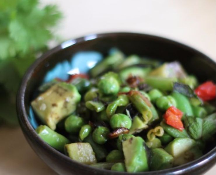 avocado-pea-green-bean-salad