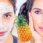 Mask From Pineapple For Smooth And Unlined Face Without Wrinkles