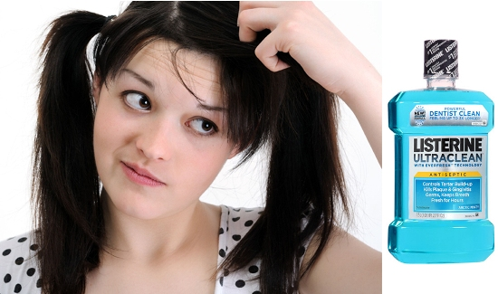 Get-Rid-Of-Dandruff-Using-Listerine