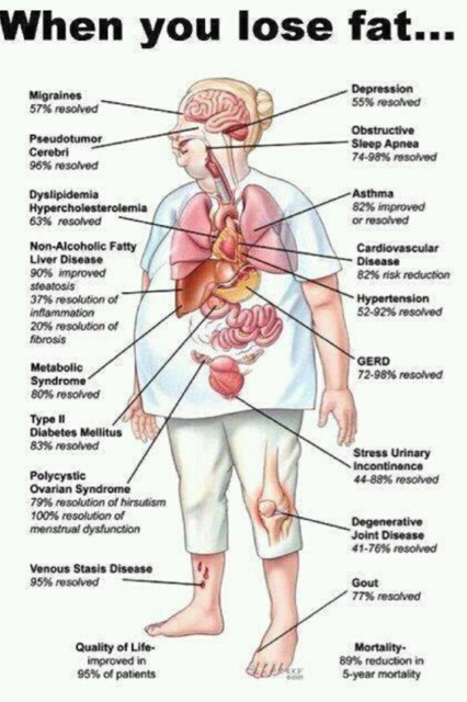 benefits of losing fat