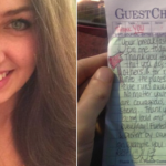 A Waitress Doodled On A Receipt, She Opened Facebook 2 Hours Later And Almost Fainted