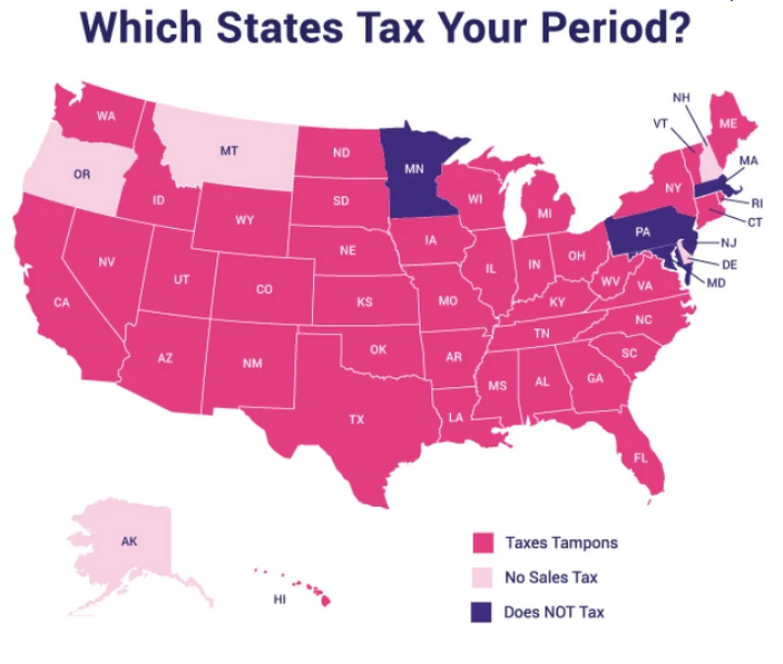 The tampon tax is real These are the 40 states taxing periods.