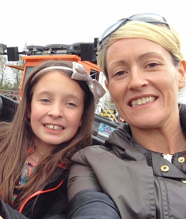 PIC FROM MERCURY PRESS (PICTURED: Olivia Retter, 9, and her mum Karly) A nine-year-old girl has been left scarred FOR LIFE by her phone case. Toxic pink glitter from Olivia Retter's phone case leaked onto her leg while she was in bed, leaving her with an angry chemical burn in the exact shape of her iPhone 5c. The youngster, from Ware, Hertfordshire, bought the phone case from New Look in December. Now shocked mum Karly Retter's post warning other parents to be aware of the danger posed by similar phone cases has gone viral, racking up nearly 13,000 Facebook shares. SEE MERCURY COPY