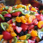 Rainbow Fruit Salad with Honey and Lime